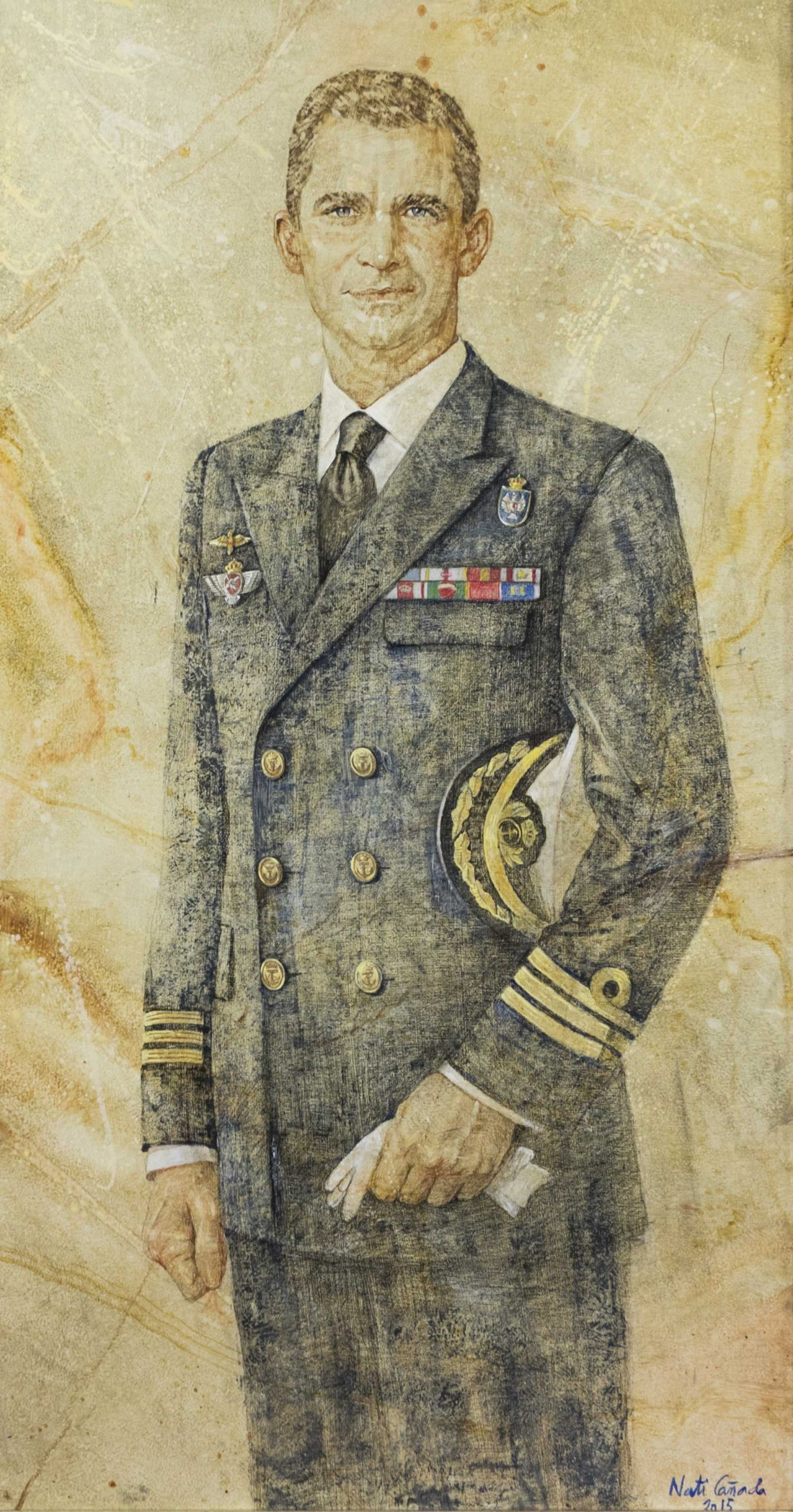 Retrato de S.M. el Rey Felipe VI - Nati Cañada Image